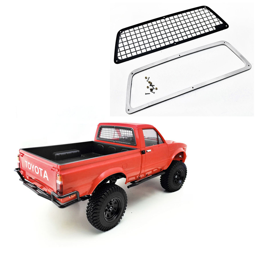 METAL REAR WINDOW GUARD GRID SET FIT FOR 1/10 SCALE TOYS RC TRUCK TAMIYA BRUISER TOYOTA HILUX 4WD TF2 MODEL UPGRADE ACCESSORIES(China)