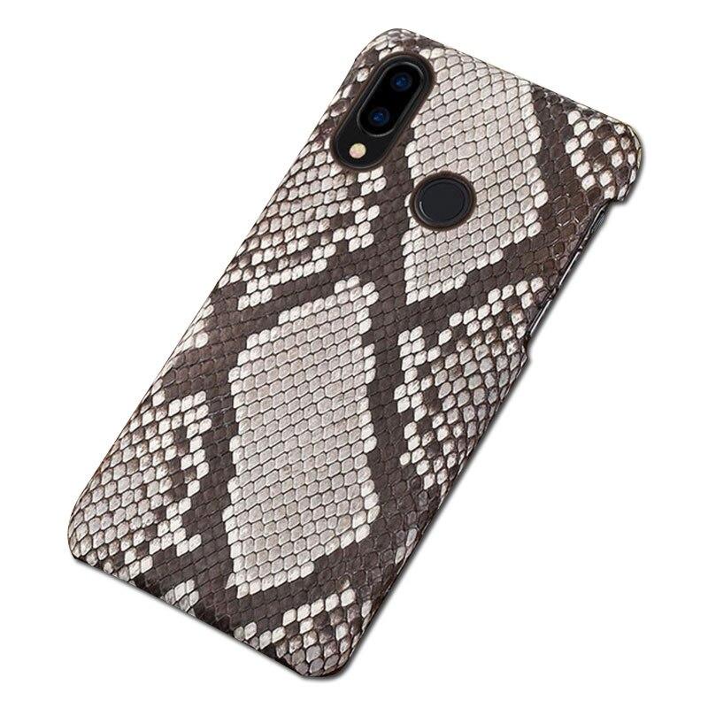For Huawei p20 lite case coque Genuine Python Leather For huawei p20 lite cover silicone phone case for huawei p10 p30 lite case