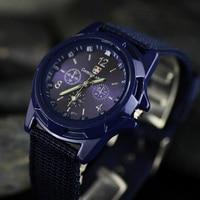 Men Nylon Band Watch High Quality Quartz Movement Men Sports Wristwatches Casual Army Watch