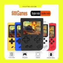 ZK50 Macaron Геймпады Игрушки Портативный Ретро Консоль 3,0 дюйма Геймпад с 500 Встроенный Игры5 Цвет Классический Игра Игрок Подарки