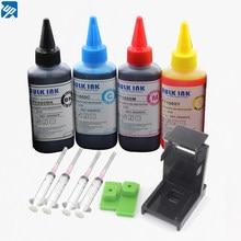 4x100ml recarga tinta impressora para canon PG-545 preto PG-545XL preto CL-546 cor CL-546XL pixma ip 2850, mg 2450, 2455, 2550