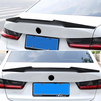 Use For BMW 3 Series G20 Spoiler 2020 Year Sedan 4-door Glossy Real Carbon Fiber Rear Wing M4 Style Sport Accessories Body Kit image