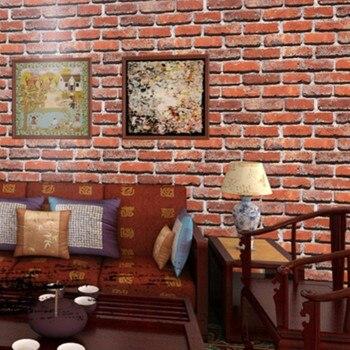 3D Bump Stereo Retro Model Brick Pattern Wallpaper Brick Red Brick White Brick Brick Tea House Restaurant Waterproof Wallpaper