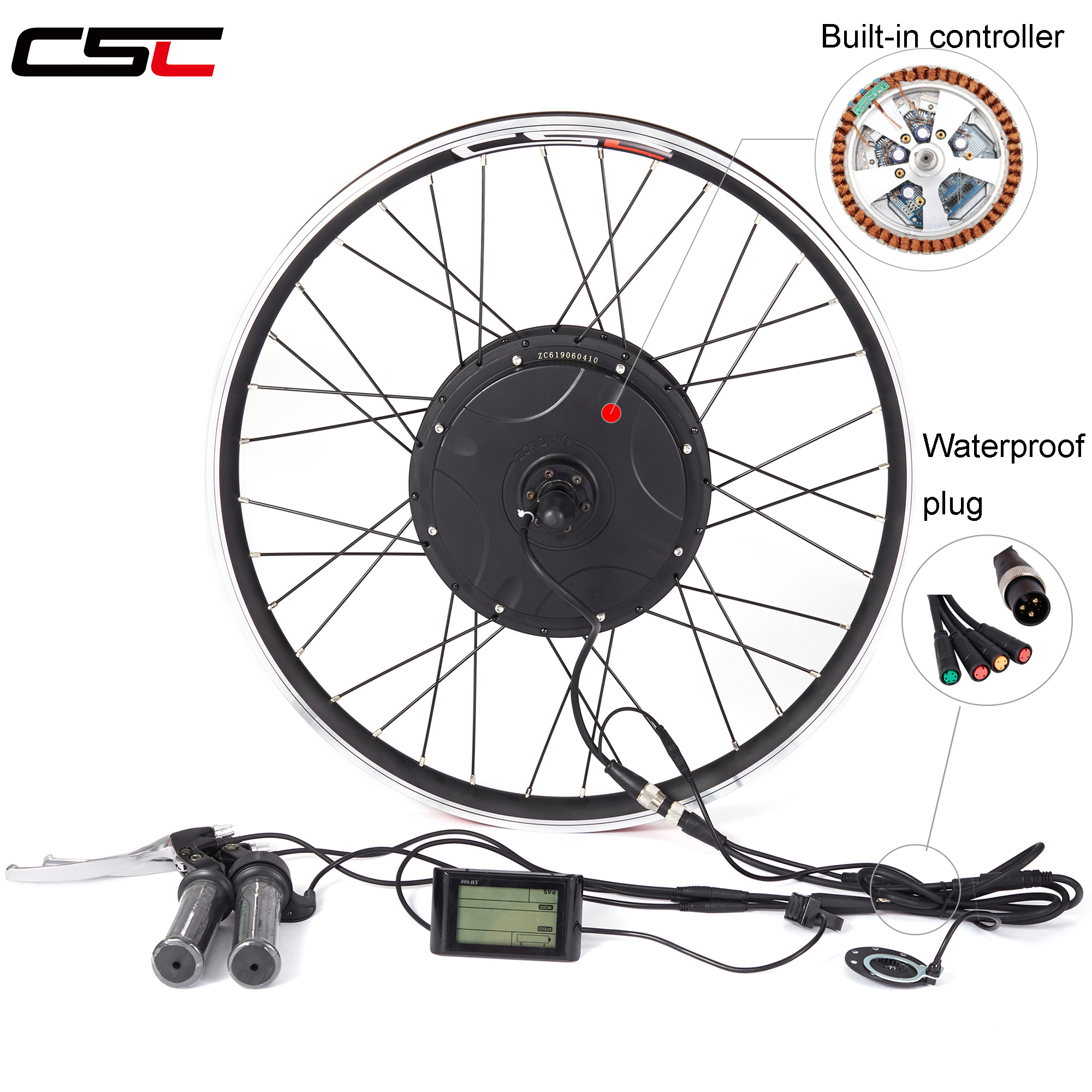 Electric Bike Conversion Kit Waterproof Built-in Controller Bicycle Motor Wheel 48V 1000W 1500W For 20-29inch 700C EBike