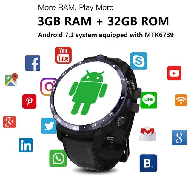 LEMFO LEM12 Smart Watch 4G Face ID 1.6 inch Full Screen OS Android 7.1 3G RAM 32G ROM LTE 4G Sim GPS WIFI Heart Rate Men Women 3