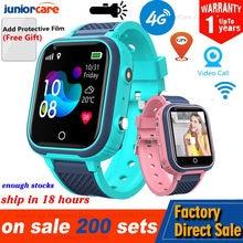 4g relógio inteligente crianças câmera gps wifi ip67 à prova dip67 água criança estudantes smartwatch monitor de chamada vídeo rastreador localização telefone relógio