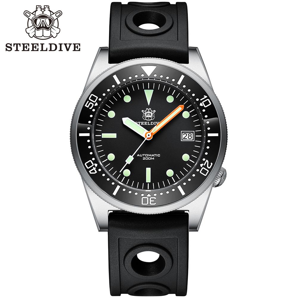 STEELDIVE 1979 Shark NH35 Diver Watch 200m Automatic Watches Mens watches 2020 New Mechanical Watch men waterproof watch Diving