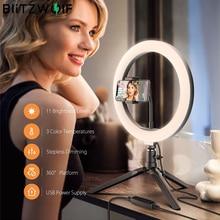 26cm Anel LED de luz certa com tripé selfie Luzes Anéis Lâmpada profissional Ringlight ringlamp para Youtube Tik Tok Roupas roupas Meninas de maquiagem Smartphone suporte de telefone Smartphone estúdio de fotografia