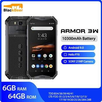 Перейти на Алиэкспресс и купить Смартфон Ulefone armor 3W, водонепроницаемый, прочный, 2,4 ГГц/5G, Wi-Fi, Android 9,0, Helio P70, 6 ГБ + 64 ГБ, NFC, глобальная версия, 4G-LTE