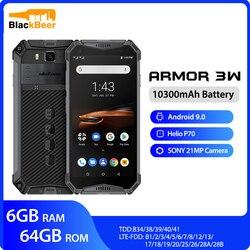 Ulefone armor 3W водонепроницаемый прочный мобильный телефон 2,4G/5G WiFi Android 9,0 Helio P70 6G + 64G NFC глобальная версия 4G-LTE смартфон
