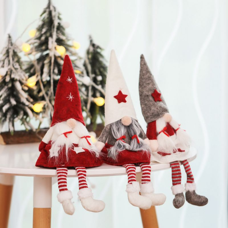 Cute Faceless Cloth Fabric Doll Figurines Home Christmas Ornament Multipurpose Tree Party Decorations Holiday GiftsGM