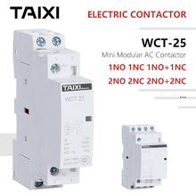 WCT переменного/постоянного тока, Производство Китая-контактор миниатюрный-Модульный-контактор переменного тока 220V 230V 250V 25A 1NO 1NC 2NO 2NC 3NC 3NO CT-16 CT-20 CT-25 CT-40 контакторы