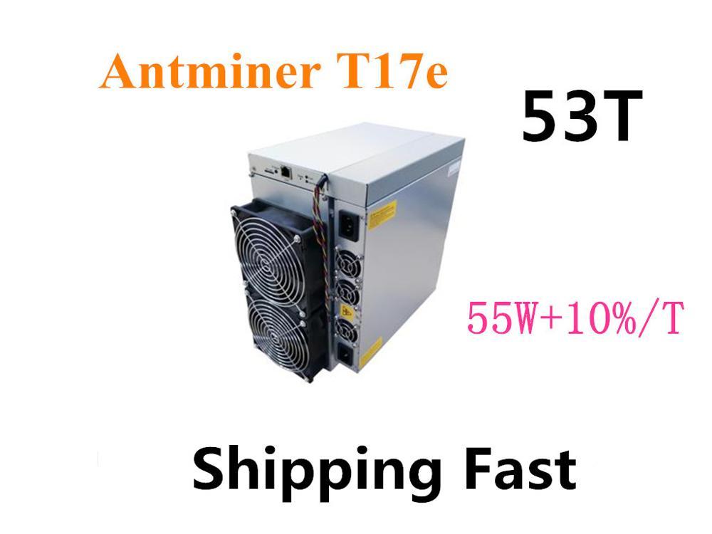 BITAMAIN BTC BCH Miner AntMiner T17e 53TH/S avec PSU mieux que S9 S9j S15 T17 S17 Pro what sminer M3X M21S M20S Ebit E9i + E10