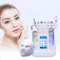 foyying 8 In 1 Vacuum Face Cleaning Hydro Water Oxygen Jet Peel Machine Ance Pore Cleaner Facial Massage Small Bubble Skin Care