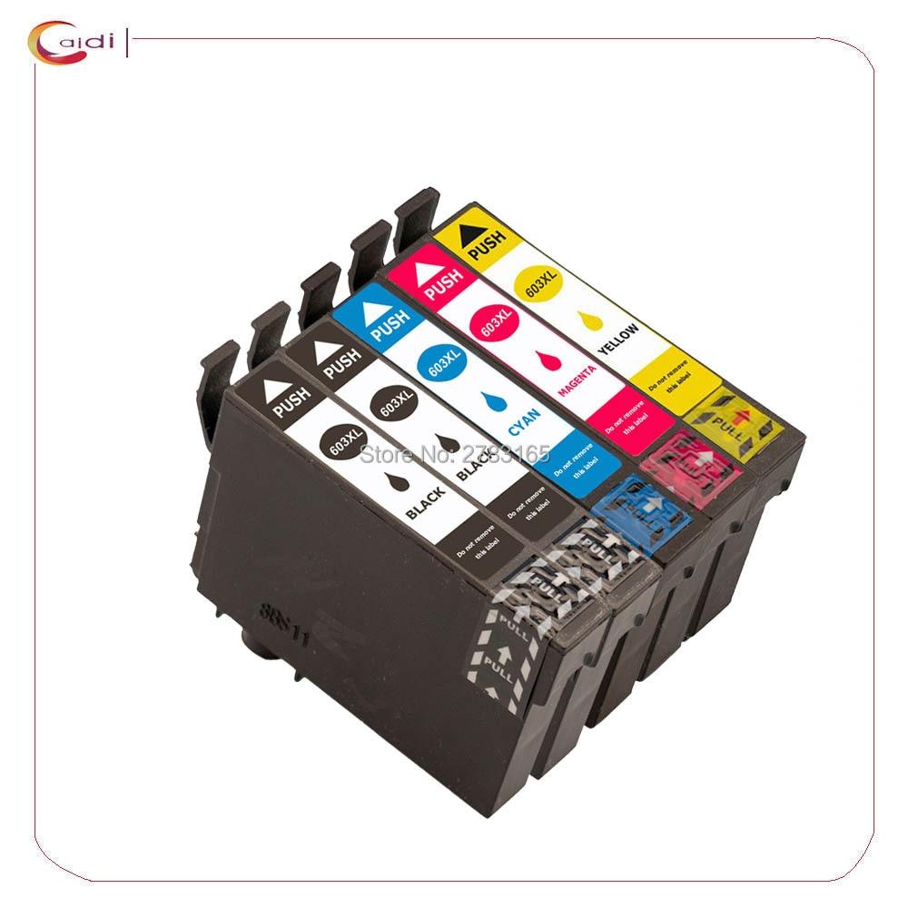 5 Packs T603 603XL - Ink Cartridge Compatible For  Epson Expression Home XP-3100 XP-4100 XP-2100 XP-2105 XP-3105 XP-4105 Printer