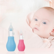 Newborn  Baby Silicone Safety Nose Cleaner Vacuum Suction Children Nasal Aspirator Manual Nasal Aspirator Cleaner Care Accessory