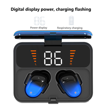 ES01 mini Digital display Bluetooth 5.0 Touch Wireless headsets true Stereo earphone IPX67 Sports Headset With HD Mic