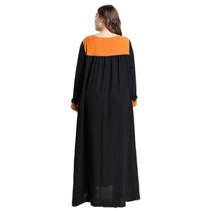 Image 3 - 黒女性イスラム教徒長袖マキシドレスイスラムカフタンドバイパーティートルコ Abayas ラマダンローブカクテル Jilbab アラブ