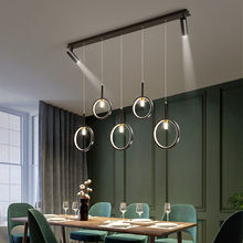 Chandelier-Lighting Dining-Table-Lamp Modern Kitchen Minimalist-Design Restaurant Black/gold-Strip
