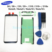 Vervanging Externe Glazen Voor Samsung Galaxy S8 S9 S10 Plus S10e Note 8 9 10 + Lcd Touch Screen voor Outer Glas Lens