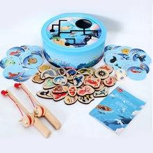 Новинка 2020 Магнитные деревянные рыболовные интерактивные игрушки