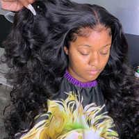 Frente de encaje Peluca de cabello humano 250 de densidad peluca delantera de encaje Preplucked encaje Natural cabello nudos blanqueados 13x6 profundo parte peluca Remy
