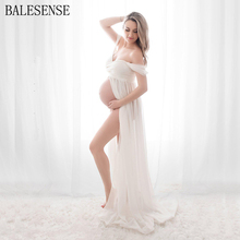 Maternity Dress for Photography Pregnant Sexy Off Shoulder Lace Chiffon Gown Split Front Maxi Pregnancy Dresses for Photo Shoot clearance chiffon gown maternity dress for photo shoot split front maternity photography prop maternity dress without shorts