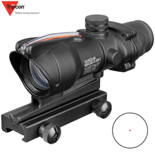 Acog 1x32 Tactical Red Dot Sight Real Green Fiber Optic Riflescope With Picatinny Rail For M16 Rifle Hunting Scope new arrival tactical 4x32 acog style scope with mini red dot for hunting bwr 034