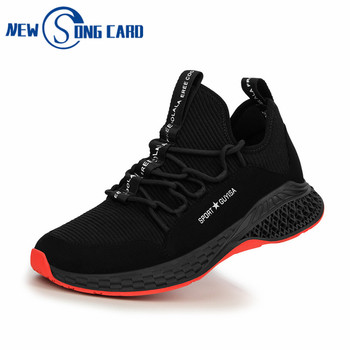 Safety Shoes men Proof Safety Boots steel toe Comfortable Anti-smashing Shoes for Men Winter Breathable Sneakers mens Work shoes