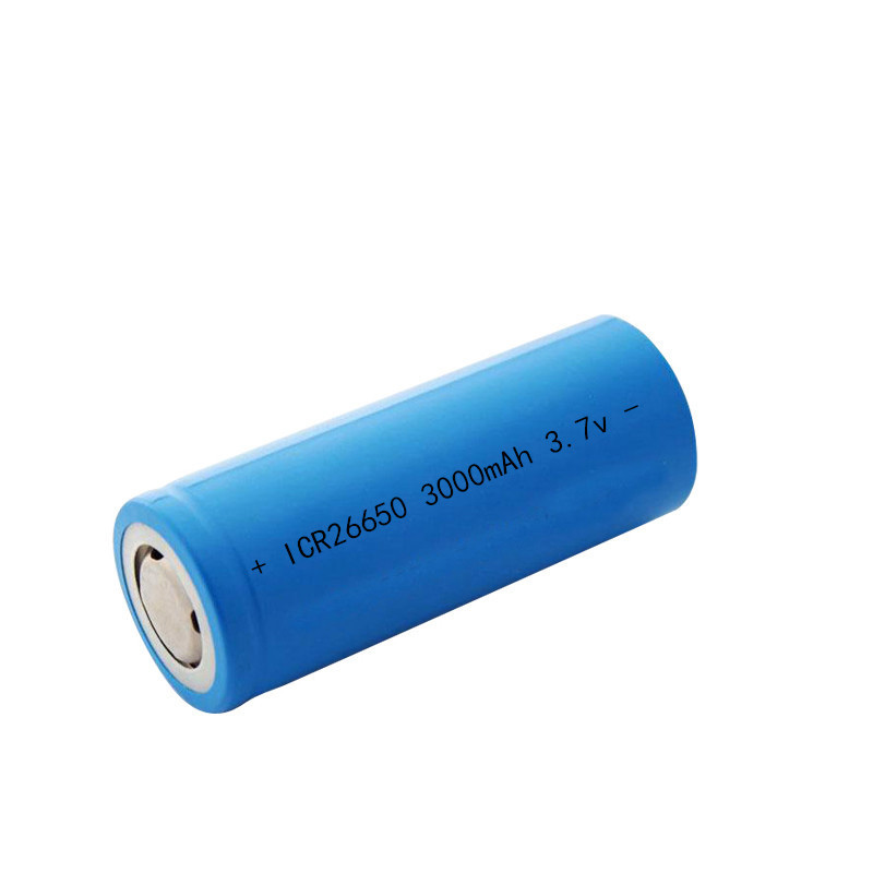 100% New ICR <font><b>3.7</b></font> <font><b>v</b></font> <font><b>3000mah</b></font> 26650 Lithium Rechargeable Battery For Flashlight batteries image