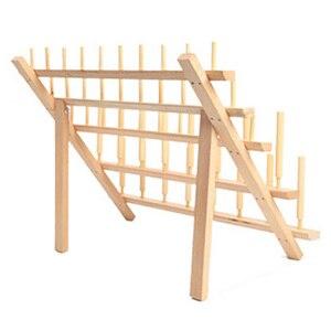 Большая сделка складная деревянная стойка для ниток держатель для стойки настенное крепление 46 катушка конус вышивка машина швейный держа...