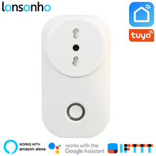 Lonsonho Smart Plug Wifi Socket Italy Chile Outlet Power Monitor 16A Tuya Life App Alexa Google Home IFTTT