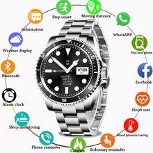 Lige Модные Смарт часы для мужчин вызовов через bluetooth Часы