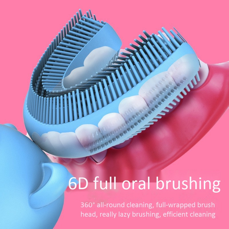 U-Shaped Toothbrush Sonic Rechargeable Electric Toothbrush Automatic 360 Degree Toothbrush Ultrasonic Soft Silicone Electric Chi