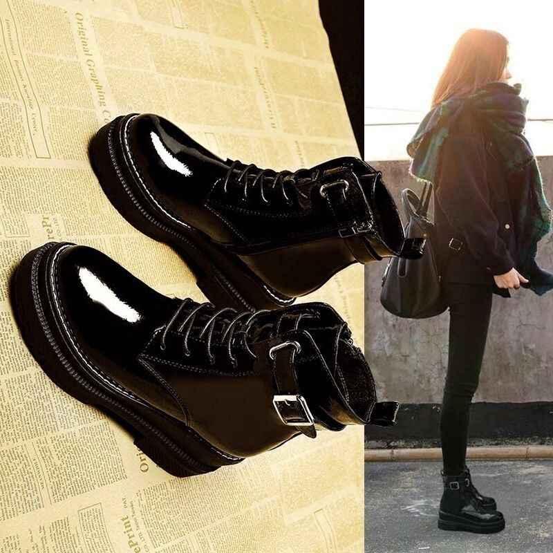 Yeni Gelenler Yumuşak Deri yarım çizmeler Kadınlar Rahat Orta Topuklu Çizmeler Bayanlar Için Bahar Sonbahar Kadın Ayakkabı Size35-40