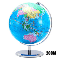 1PCS 20cm World Earth Globe Map Rewritable Swivel Stand Geography Educational Enhance knowledge of Geography Kids Gift Office