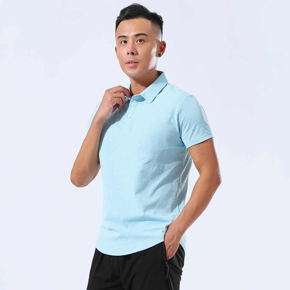 새로운 남자의 짧은 소매 골프 남자의 옥외 운동복 골프 짧은 소매 여름 셔츠 빠른 건조 turndown 칼라 골프 옷