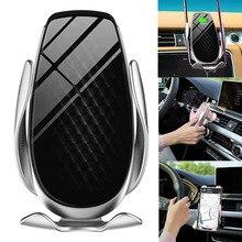 Автомобильный держатель для телефона 10 Вт Qi Беспроводное зарядное устройство для iPhone XS Max Samsung S10 автоматическое зажимное устройство для быс...