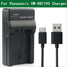 LANFULANG VW VBT190, VW VBT190 VW VBT380, cargador de batería para Panasonic HC V757 HC V760 HC V770 HC V777