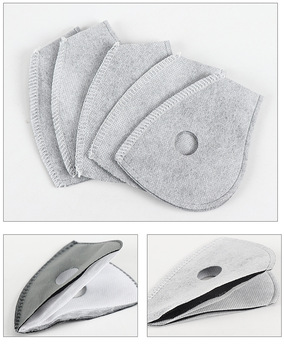 2 Pcs 4 layers/ 5 layers PM2.5 Filter Paper Anti Haze Mouth Mask Anti Dust Mask Activated Carbon Filter Paper Mask Filter