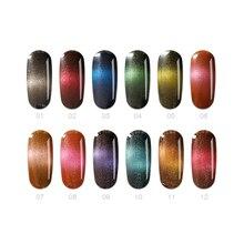 Bozlin Радуга Кошачий глаз Гель лак для ногтей сильное влияние магнитного DIY ногтей лак замочить от УФ-гель 7.3 мл длительный лак