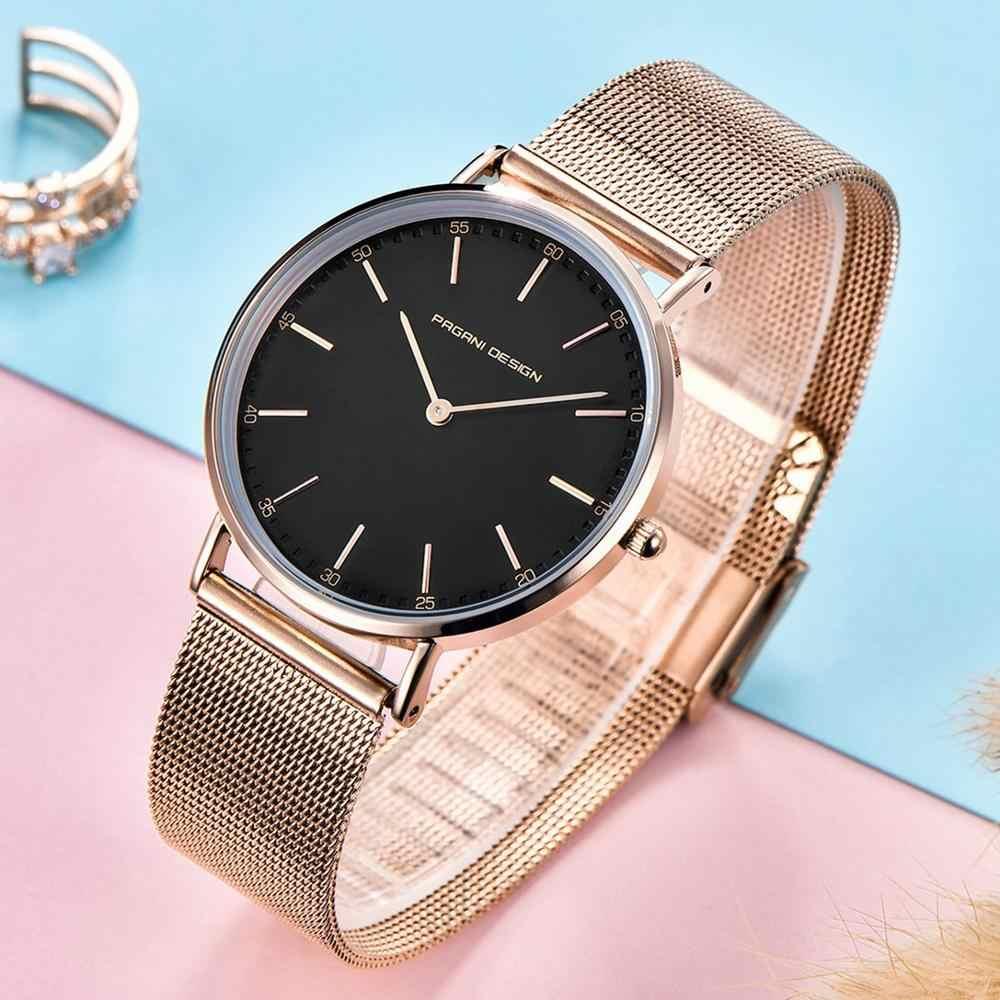 Zegarki damskie PAGANI DESIGN Top marka luksusowa wodoodporna sukienka Ultra cienka data zegar męski stalowy Casual kwarcowy zegarek sportowy