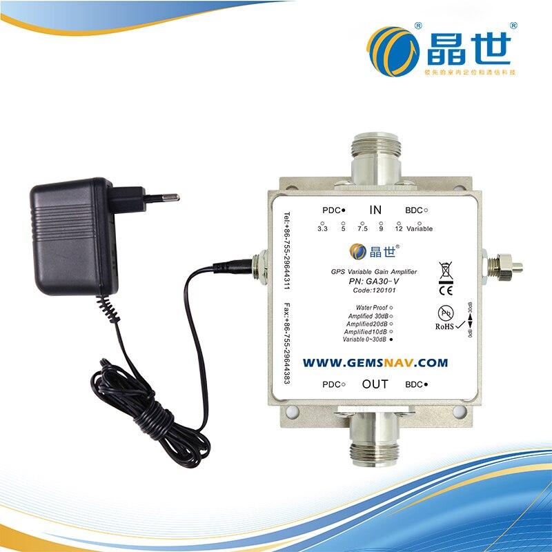 GPS ayarlanabilir amplifikatör GA30 V GPS amplifikatör LNA amplifikatör sinyal güçlendirici|Parmak İzi Tanıma Cihazı|   -