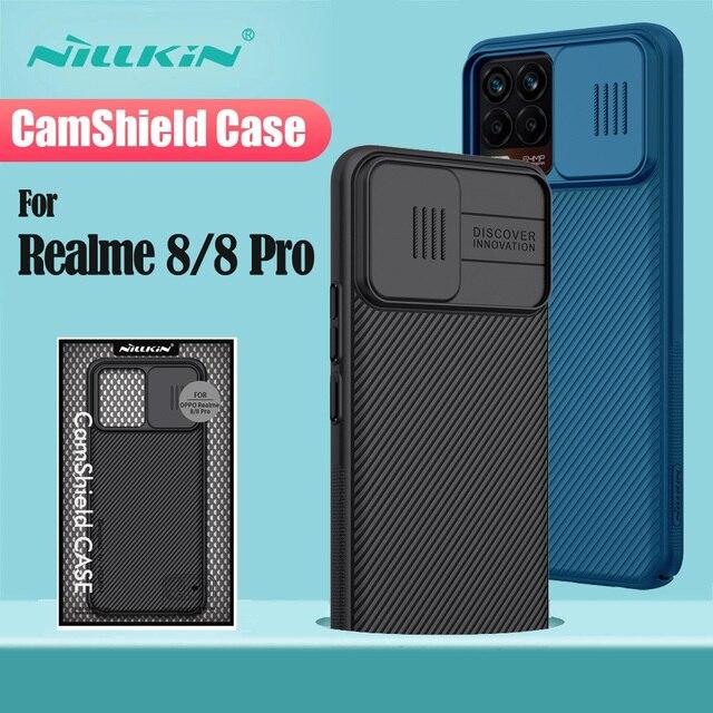 עבור OPPO Realme 8 Pro פרו מקרה Realme 8 כיסוי NILLKIN CamShield שקופיות מצלמה מקרה עדשת פרטיות הגנה חזרה כיסוי עבור realme8 Pro