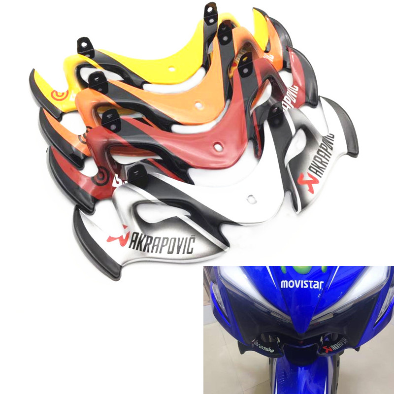 Modified Motorcycle NVX aerox headlamp lamp protect guard eyebrow cover shell for yamaha NVX155 DGR155 L155