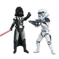 Darth Vader Diamant Bouwstenen Game Movie Yoda Troepen BB-8 Actiefiguren Speelgoed Micro Blokken Voor Kinderen Star Bricks
