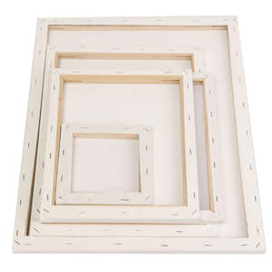 Drawing-Board Painting Blank Wooden-Frame Acrylic-Paint Canvas Primed-Oil White for Square