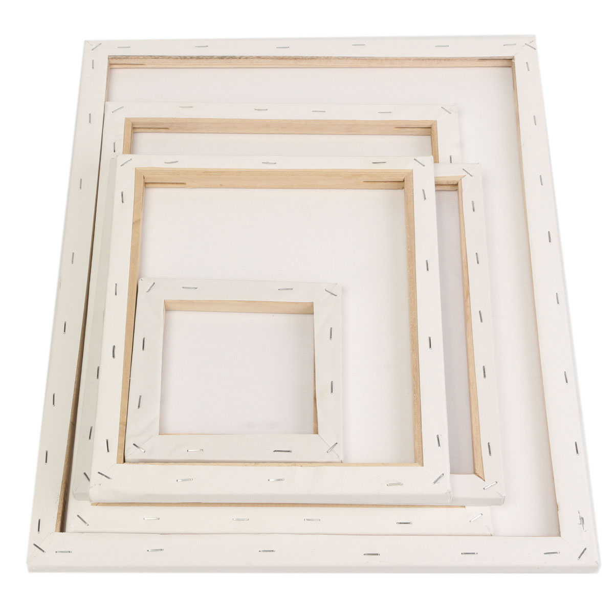 1Piece White Blank Square Artist Canvas Painting Drawing Board Wooden Frame For Canvas Oil Painting For Primed Oil Acrylic Paint