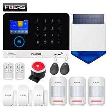 2.4 นิ้วหน้าจอTFT WIFI GSM Home Security ALARM System Motion Detector APPควบคุมไซเรนพลังงานแสงอาทิตย์เครื่องตรวจจับควันชุด