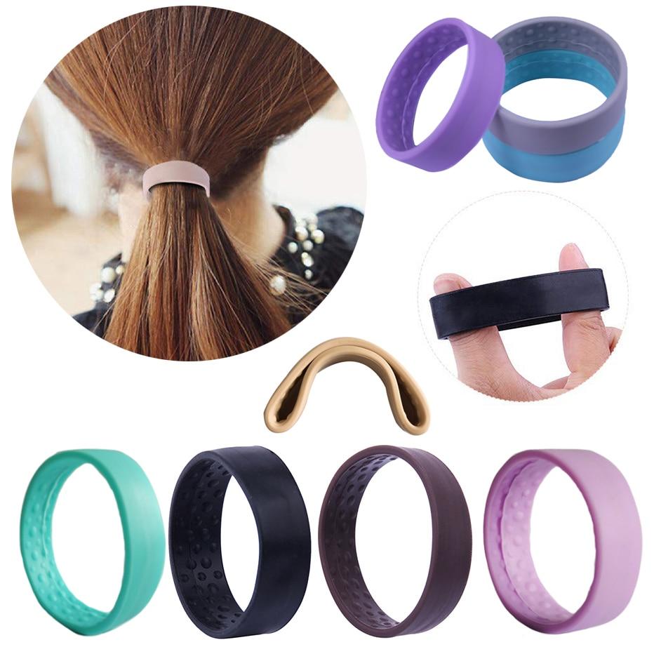 Hairband Women Ponytail-Holder Stretch-Hair-Tie Elastic Foldable Girls Silicone Magic